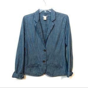 Levi's chambray Cotton two button blazer jacket